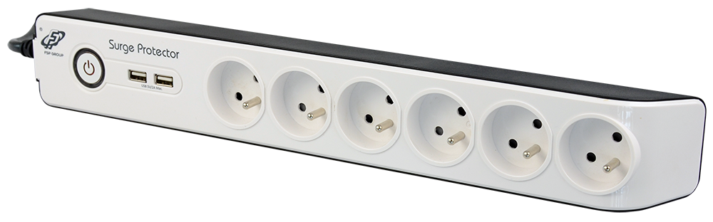 Euro block power strip
