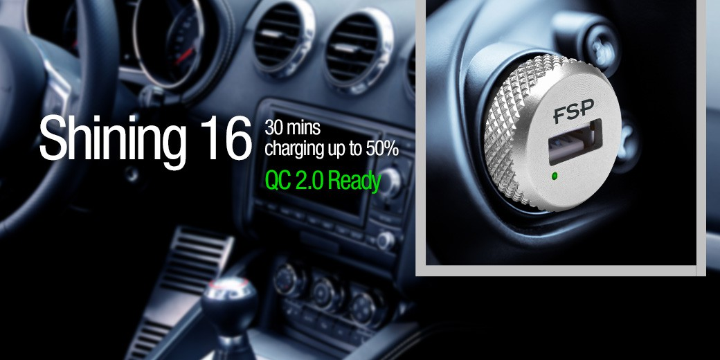 Fsp Shining 16 Car Charger Is Certified By Qualcomm S Standard Cl A When It Charges Qc 2 0 Enabled Device Can Charge Up To 75 Faster Than Normal